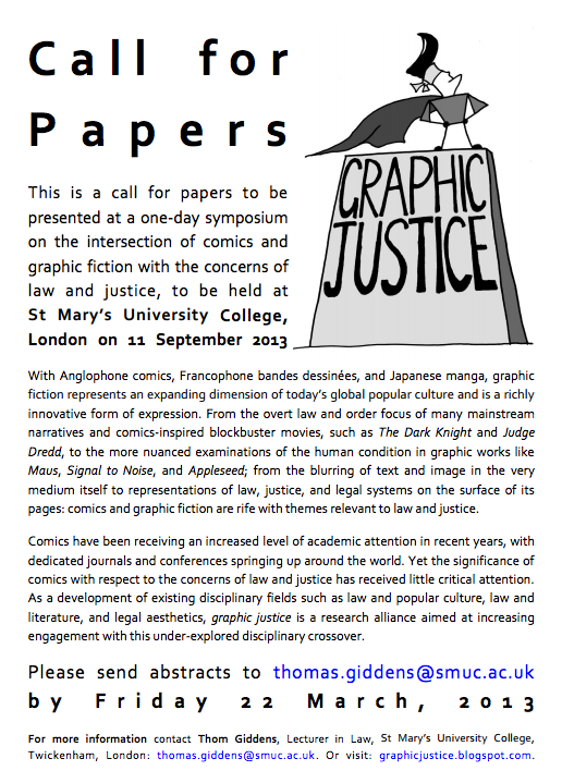 Call for Papers: Graphic Justice Symposium
