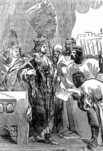 King John signs the Magna Carta (Goodrich, 1844, History of York)