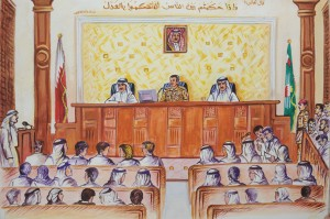 Bahrain court sketch from the trial of 21 opposition movement leaders in June of 2011 (www.twentyfoursevennews.com)movement leaders in June of 2011 (www.twentyfoursevennews.com)